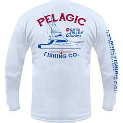 PELAGIC Mens Fishing Charters Long Sleeve T-Shirt