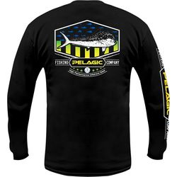 PELAGIC Mens Patriotic Dorado Long Sleeve T-Shirt