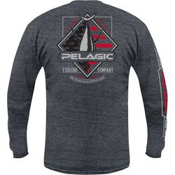 PELAGIC Mens Patriotic Tuna Long Sleeve T-Shirt