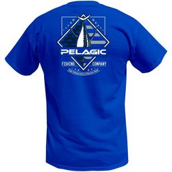 PELAGIC Mens Patriot Tuna Short Sleeve T-Shirt