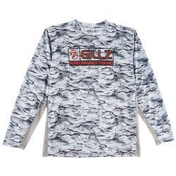 Gillz Mens CoolCore Tech Stormy Seas Long Sleeve T-Shirt