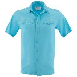 Gillz Mens Saltwater Short Sleeve Woven Shirt