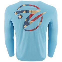 Gillz Mens UV American Fish Head Long Sleeve T-Shirt
