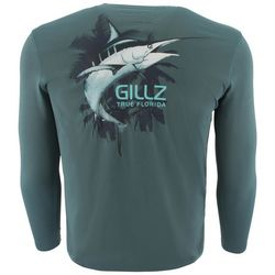 Gillz Mens UV True Florida Marlin Long Sleeve