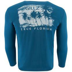 Gillz Mens UV True Florida Palms Long Sleeve T-Shirt