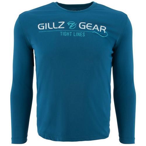 Gillz Mens UV Tight Lines Long Sleeve T-Shirt  37d790fef6e
