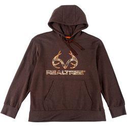 Realtree Mens Camo Logo Antler Hoodie
