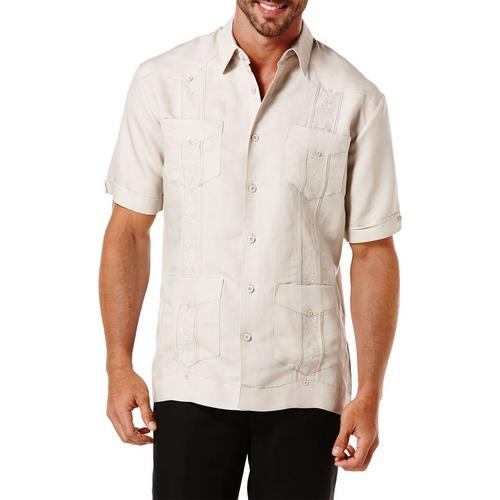 a864972491 Cubavera Mens Short Sleeve Guayabera Shirt