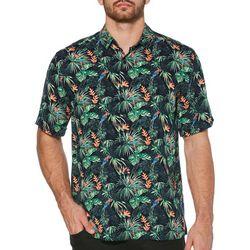Cubavera Mens Parrots In Paradise Short Sleeve Shirt
