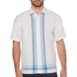 Cubavera Mens Yarn Dye L-Shape Shirt