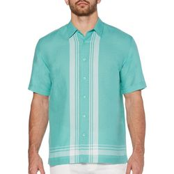Cubavera Mens L-Stripes Linen Shirt