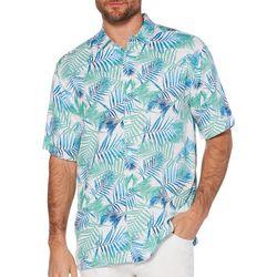 Cubavera Mens Tropical Palms Short Sleeve Shirt