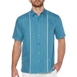 Cubavera Mens Space Dyed Insert Panel Shirt