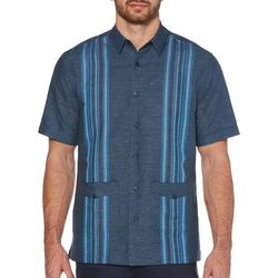 Cubavera Mens Two Pocket Engineered Guayabera Shirt