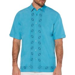 Cubavera Mens Diamond L-Shape Embroidery Shirt