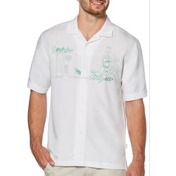 Cubavera Mens Necesito Mojito Embroidery Button Up Shirt