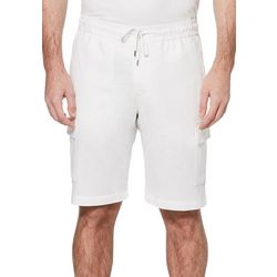 Cubavera Mens Drawstring Linen Cargo Shorts