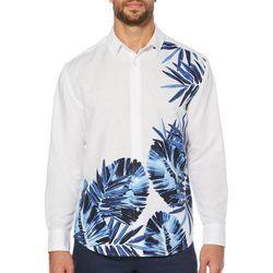 Cubavera Mens Leaves Long Sleeve Shirt
