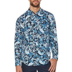 Cubavera Mens Paisley Print Long Sleeve Shirt