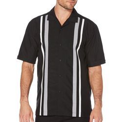 Cubavera Mens Tricolor Stripe Panel Shirt