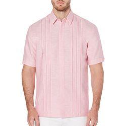 Cubavera Mens Box Pleat Woven Shirt