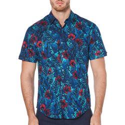 Cubavera Mens Tropical Print Short Sleeve Shirt
