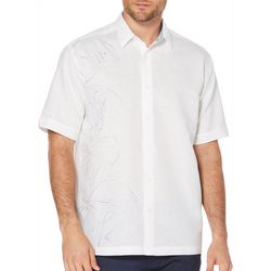 Cubavera Mens Bamboo Placement Print Shirt