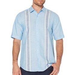Cubavera Mens Yarn Dyed Panel Shirt