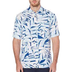 Cubavera Mens Ray Print Short Sleeve Shirt