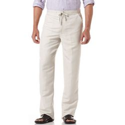 Cubavera Mens Linen Blend Drawstring Pants
