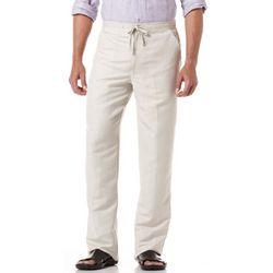 Cubavera Mens Linen Blend Drawstring Pants