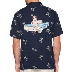 Cubavera Mens Palm Tree Print Shirt