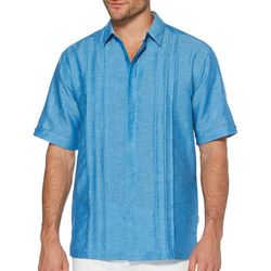 Cubavera Mens Crossdye Multiple Tuck Shirt