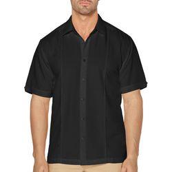 Cubavera Mens Double Tucks Short Sleeve Shirt