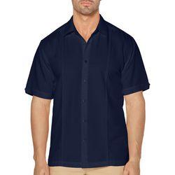 Cubavera Mens Double Untuck Short Sleeve Shirt