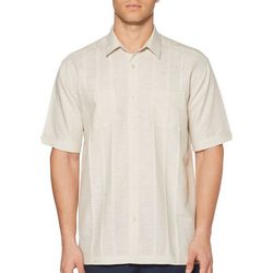 Cubavera Mens Tucks Short Sleeve Shirt