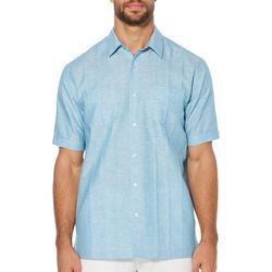Cubavera Mens Two Pocket Tucked Woven Shirt