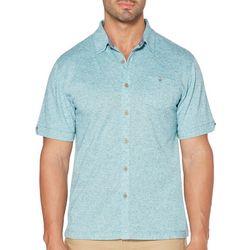Cubavera Mens Diamond Pique Knit Shirt