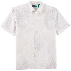 Cubavera Mens Paisley Short Sleeve Shirt
