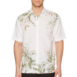 Cubavera Mens Tropical Corners Short Sleeve Shirt