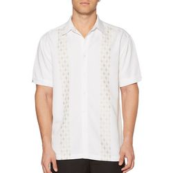 Cubavera Mens Diamond Panel Button Down Shirt