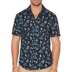 Cubavera Mens Mini Print Cotton Shirt