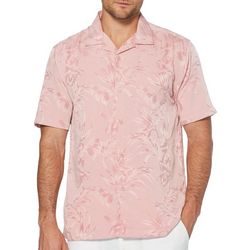 Cubavera Mens Floral and Leaf Jacquard Shirt