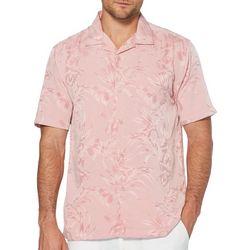 Cubavera Mens Floral and Leaf Jacquard Shirt