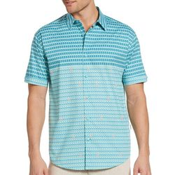 Cubavera Mens Mini Flamingo Print Stretch Shirt