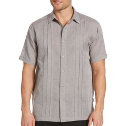 Cubavera Mens Cross Dye Multi Tuck Shirt