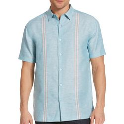 Cubavera Mens Yarn Dye Narrow Panel Shirt