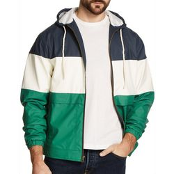 Weatherproof Mens Tri-Color Wind Slicker Jacket