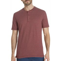 Weatherproof Mens Feeder Stripe Henley T-Shirt