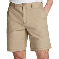 Weatherproof Mens Solid Flat Front Shorts